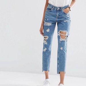 ASOS Original Mom Jeans With Stepped Hem